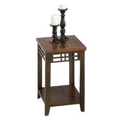 Jofran - Jofran 536 Series Chairside Table in Barrington Cherry Finish - Jofran - End Tables - 5367