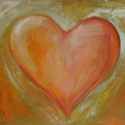 """Wall Decor Paintings - Original Heart Painting """"Rapture"""" is from my art for the heart series which is intended to warm up the home and evokes the feeling of tranquility and love."""