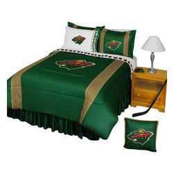 Store51 LLC - NHL Minnesota Wild Bedding Set Hockey Bed, Queen - Features: