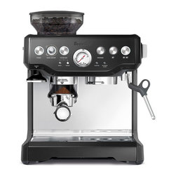 None - Breville BES870BSXL Barista Express Black Espresso Machine - Make yourself a delicious espresso every morning with the Breville Barista in an elegant black finish. Its in-built conical burr grinder allows you to grind directly into the portafilter.
