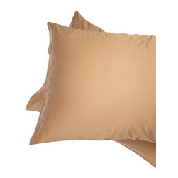 Alluna - Brown 500-Thread Count Best Fit Pillow Case - Set of Two - Drift to Dreamland with this set that boasts an extra-soft 500-thread count and a 6-inch capture top opening that keeps your pillow in place.   Includes two pillow cases 100% cotton 500-thread count Machine wash Imported
