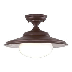 """Hudson Valley Lighting - Hudson Valley Lighting 9106 Single Light Ceiling Fixture from the Independence C - *Independence Collection 1 Light Ceiling FixtureThese reproduction Fixture were often found at train stations during the first half of the 20th century.16"""" D x 10 3/4"""" H1-100w Medium Base (Not Included)"""