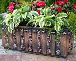 Flora Window Box in Copperglass - Flora window box in copperglass retails for $262.25 with free shipping from http://www.windowboxplanters.com
