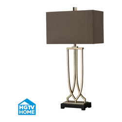 HGTV HOME - HGTV HOME HGTV229 Hgtv Home 1 Light Table Lamps in Antique Silver Leaf - Free Form Iron Table Lamp Antique Silver Leaf Finish