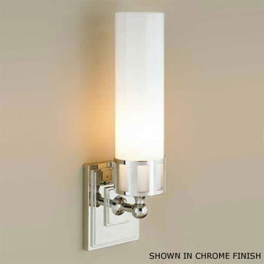 Astor FL by Norwell Inc. Bathroom Sconce - A very pretty sconce with traditional detailing. Perfect to add the right finishes to that luxurious master suite. I could see this on the wall or used in tandem on a vanity mirror.