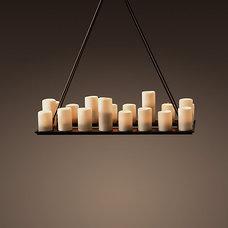Pillar Candle Rectangular Small Chandelier