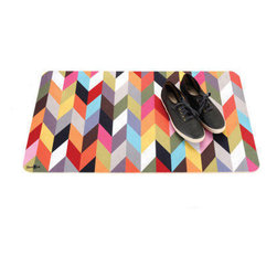 Multi-Use Floor Mat, Ziggy - This floor mat is both gorgeous and hardworking. The chevron pattern is fun, and the colors are spot on.