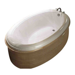 Atlantis Whirlpools - Atlantis Whirlpools 3660P Petite Oval Bathtub - 27 air jets, powered by 3-speed air jet blower; pre-leveled for easy installation