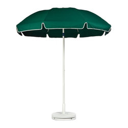 S Frankford and Sons Inc - Frankford 7.5 ft. Standard Manual Lift Fiberglass Patio Umbrella with White Pole - Shop for Patio Umbrellas from Hayneedle.com! If you can't keep the sun from moving the least you can do is move with it when you sit beneath the Frankford 7.5 ft. Standard Manual Lift Fiberglass Patio Umbrella with White Pole and Tilt. The white-coated aluminum center pole features a simple tilt mechanism that lets you put the shade where you need it and resin joints are tied to the solid fiberglass ribs to give your umbrella years of smooth and reliable opening. All the features are great but the real appeal comes from the marine-grade acrylic umbrella that's solution-dyed in a vibrant array of colors. The umbrella's deep pockets will keep all the ribs securely in place and ample UV-protection will protect the color of your umbrella and keep you from getting a summertime sandal-tan. This umbrella is also offered with or without a top-vent or valences.