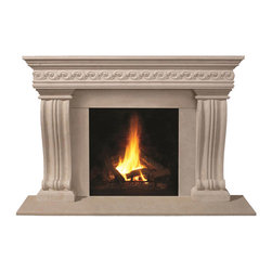 Omega Mantels & Mouldings Ltd - 1110S.536 cast stone mantel, Taupe Open Cast - This unique design will help you achieve the look you desire.