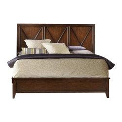 Hooker Furniture - Hooker Furniture Lorimer Panel Bed 3 Piece Bedroom Set in Warm Brown - Hooker Furniture - Bedroom Sets - 5065902XX3PCPKG -