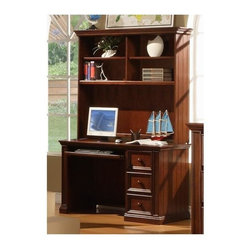 Winners Only - Cape Cod Flattop Desk - Includes desk only. Hutch is optional. Desk with three drawers. One secretary pullout. Hutch with four shelves. Chocolate finish. Desk: 50 in. W x 24 in. D x 31 in. H. Hutch: 52 in. W x 13 in. D x 46 in. H