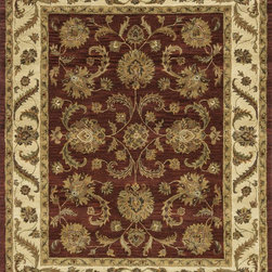 Loloi Rugs - Loloi Rugs Maple Collection - Fireweed / Beige, 8' x 11' - Transform your home into a manor steeped in elegance and tradition with the majestic Maple Collection. These timeless Persian designs carry the rich heritage of centuries of carpet making in each arabesque, stylized flower and intricate border. Maple Collection rugs are hand-tufted in India of 100-percent wool so they are eco-friendly and mindfully crafted with sustainable materials. With colors as rich as these, you will feel like nobility every time you walk into your home.