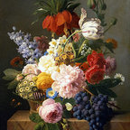 Still Life with Flowers and Fruit | Jan Frans van Dael | Canvas Print - Condition: Canvas Print - Unframed
