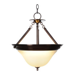 Premier - Three Light 15.5 inch Pendant Fixture - Oil Rubbed Bronze - The Sonoma lighting collection will instantly brighten the decor of any room in your home. Sonoma chandeliers, pendants, ceiling fixtures, and vanity fixtures feature everything you'll need to create a complete home lighting ensemble with a look of refined elegance and majestic charm. With an oil rubbed bronze finish, frosted glass globe, and striking design, this one-light pendant provides unique character and regal allure.