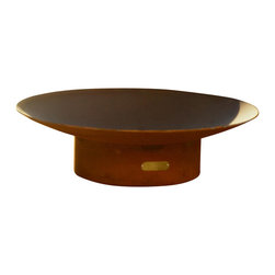 Fire Pit Art - Asia 60 inch Modern Asian Inspired Fire Pit - The Asia series is a low close to the earth oriental design.