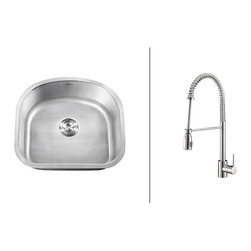 Ruvati - RVC2476 Stainless Steel Kitchen Sink and Polished Chrome Faucet Set - Ruvati sink and faucet combos are designed with you in mind. We have packaged one of our premium 16 gauge stainless steel sinks with one of our luxury faucets to give you the perfect combination of form and function.