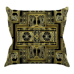 """Kess InHouse - Nika Martinez """"Golden Art Deco"""" Throw Pillow (16"""" x 16"""") - Rest among the art you love. Transform your hang out room into a hip gallery, that's also comfortable. With this pillow you can create an environment that reflects your unique style. It's amazing what a throw pillow can do to complete a room. (Kess InHouse is not responsible for pillow fighting that may occur as the result of creative stimulation)."""