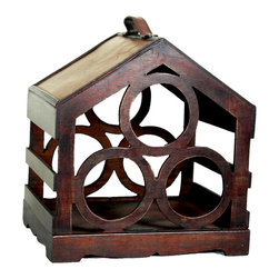 3 Bottle Wine Rack - Bird House - This decorative bird house wine rack is gonna fill any empty place in your home or heart.