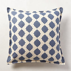 Pehr - Furmah Pillow, Blue - I like to minimize the throw pillows on the bed, as they do just get thrown off. This graphic pattern offers maximum impact.