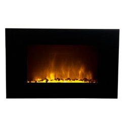 "Frigidaire OWF-10303 Oslo 35"" 1500w / 750w 110v Electric Wall Hung LED Fireplace - Frigidaire OWF-10303 Oslo Wall Hanging LED Fireplace with Color-Changing  Flame Effect brings  beauty and warmth to your living space. This  unique feature allows you to choose from 10 attractive flame colors that  compliment your home decor the best or just set it in auto-color  changing mode. Flame effect operates with and without heat to create a  matchless ambience in any season.  With its dual heat setting, you can  simply plug and heat almost instantly. Its flat tampered glass panel and  built-in automatic overheat protection combines beauty with safety. It  comes with real pebbles to give an outstanding class to the flame  effect. It includes mounting hardware to mount safely on virtually any  wall, while it's remote control let's you easily control its heat, flame  colors and flame brightness from the comfort of your bed or couch. This  elite and stylishly designed fireplace is simply fascinating and a  must-have for every home3531aFeatures: - Oslo Wall Hanging LED Fireplace heats up to 400 sq. ft.- Dual heat settings (750 Watts/2500 BTU; 1500 Watts/5000 BTU) offers flexibility to choose your heating preference- Built-in overheat protection with auto safety shut-off- 10 choices of color-changing realistic-effect LED flames- Built-in auto color changing mode- Flames operate with and without heat- Flames include adjustable brightness- Flames do not include realistic crackling effect- Heat resistant tempered glass panel- Real pebbles and remote control included- Modern wide-screen wall mount design brings comfort to any room dcor- No assembly or hardware needed, simply plug in and heat- Size: 22""H x 6.3""D x 34.6""WSPECIFICATIONS:- Wide-screen wall mount fireplace- 10 choices of color-changing realistic-effect LED flames- Dual heating setting: 750/1500 Watts; 2500/5000 Heat BTU- Auto color change mode- Flames operate with and without heat- Adjustable flame brightness- Heat resistant tempered glass panel- Built-in overheat protection, auto safety shut-off- Real pebbles included- All hardware included- Remote control included- 1-year limited warranty 3531b"