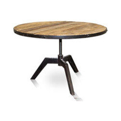 Southland Rustic Table - Urban Home Southland Rustic Table made from recycled pine wood, this rustic end table was carefully cleaned and finished to preserve its distinctive features that will add character to your home. Features an adjustable top.