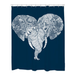 Sharp Shirter - Punch Trunk Love Shower Curtain - This type of love is unforgettable (because elephants have amazing memory).