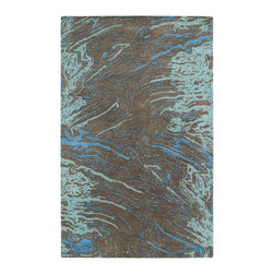 """Kaleen - Kaleen Brushstrokes Collection BRS01-40 2'6"""" x 8' Chocolate - The artistic inspirations of the Brushstrokes collection finally brings you a true piece of art for your floor! Beautiful hand-painted designs accentuated from a smooth and steady motion, this assortment features a unique spotlight of fantastic color combinations. Each rug is perfectly executed and detailed in this 100% wool, hand-tufted rug made in India."""
