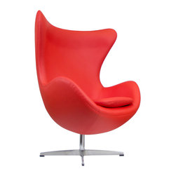 """IFN Modern - Egg Style Chair with Available Ottoman - Product DimensionsOverall Dimensions: 41\"""" H x 34.25\"""" W x 31\"""" D"""