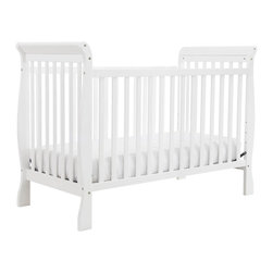 DaVinci - DaVinci Jamie 4-in-1 Convertible Crib in White - Keep your young loved one safe and secure with this white four-in-one crib. The crib features the convenience of a sliding gate and easily upgrades as your child grows to a toddler bed, daybed or even a full-size bed when additional parts are used.