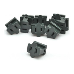 Seasonal Source - Green Slide-On Female In-Line Outlet - 10 Pack - Slide-on female in-line outlets are the perfect solution for created your own extension cords.  With these adapters you can customize and create any length of power cord that you need.