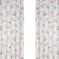 Rileys Roses Window Panels (Set of 2)