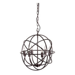 Zuo Lighting - Zuo Hazenite Ceiling Lamp, Rust - Our Hazenite Rust Ceiling Lamp makes simple look trendy with its unit shade. This interesting piece hangs from a wire. Add this striking piece to the kitchen, dinette, foyer or dining room for a warm ambiance.