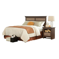 Standard Furniture - Standard Furniture Weatherly 3-Piece Headboard Bedroom Set - Weatherly bedroom has warm appealing character with its textured two-tone finish and versatile transitional styling, plus it has the smart advantage of a space conscious footprint.