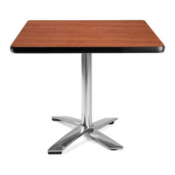 """OFM - OFM 36"""" Square Folding Table in Cherry - OFM - Folding Tables - KFT36SQCHY - This 36"""" square table looks elegant in both lunch and meeting rooms and looks great with the model 310 stack chairs. The banding makes the edges smooth and gives it a finished appearance. The honeycomb core makes the table both lightweight and sturdy."""