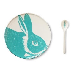 Thomas Paul - Bunny Dinnerware Set - Features: -Bunny collection. -Made from high quality, dishwasher safe melamine. -Patterned with exclusive thomaspaul designs and colors. -Referencing traditional motifs often used in fine china. -Reinterpreted in a fun and modern way.