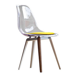 Kubikoff - Slice Chair, Dark Grey, Orange Seat Pad - Slice Chair