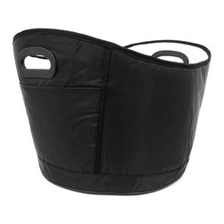 Zeckos - Black Nylon Insulated Softsided Cooler Bag Portable - This black nylon portable soft-sided cooler bag is great for picnics, tailgatings or trips to the beach. The bag is insulated to keep all your beverages cool. Just fill with ice and your favorite drinks. When the ice has melted, you can fold the bag in on itself to save storage space. It even has a built-in bottle opener and 2 exterior side pockets. It measures 9 1/2 inches tall, 16 inches wide and 13 1/2 inched deep. It makes a great gift for students, and is great for holding frozen foods from the grocery store.