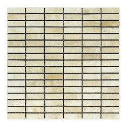 STONE TILE US - Stonetileus 10 pieces (10 Sq.ft) of Mosaic Road White 5/8x2 Polished - STONE TILE US - Mosaic Tile - Road - White - 5/8x2 - Polished Specifications: Coverage: 1 Sq.ft size:  - 1 Sq.ft/Sheet Sheet mount:Meshed back Stone tiles have natural variations therefore color may vary between tiles. This tile contains mixture of white - light brown - dark brown - and color movement expectation of high variation, The beauty of this natural stone Mosaic comes with the convenience of high quality and easy installation advantage. This tile has Polished surface, and this makes them ideal for walls, kitchen, bathroom, outdoor, Sheets are curved on all four sides, allowing them to fit together to produce a seamless surface area. Recommended use: Indoor - Outdoor - High traffic - Low traffic - Recommended areas: Road - White - 5/8x2 - Polished tile ideal for walls, bathroom,Free shipping.. Set of 10 pieces, Covers 10 sq.ft.