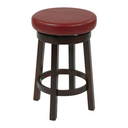 """Office Star - Office Star Metro Round Barstool in Red-24"""" Height Barstool - Office Star - Bar Stools - MET1924RD - Need a little something to complete your dining style/look? This simple, yet stylish, barstool will be great to add to your dining room or kitchen. Ready to assemble when received."""