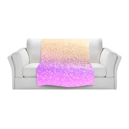 DiaNoche Designs - Throw Blanket Fleece - Gatsby Lavender Gold - Original Artwork printed to an ultra soft fleece Blanket for a unique look and feel of your living room couch or bedroom space.  DiaNoche Designs uses images from artists all over the world to create Illuminated art, Canvas Art, Sheets, Pillows, Duvets, Blankets and many other items that you can print to.  Every purchase supports an artist!