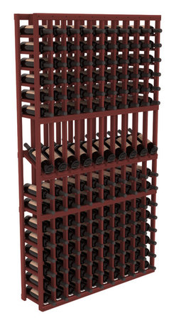 Wine Racks America - 10 Column Display Row Wine Cellar Kit in Redwood, Cherry Stain - Make your 10 best vintages the focal point in your wine cellar. Display rows allow presentation of favored labels and encourages simple cellar organization. Our wine cellar kits are constructed to industry-leading standards. You'll be satisfied. We guarantee it.