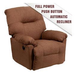 Flash Furniture - Contemporary Calcutta Chocolate Microfiber Power Chaise Recliner - Contemporary Calcutta Chocolate Microfiber Power Chaise Recliner