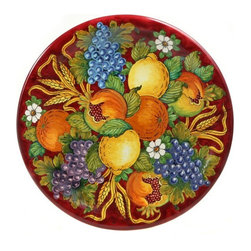 "Ceramic - Tuscan Harvest 16"" Large Decorative Plate - Tuscan Harvest 16"" Large Decorative Plate"