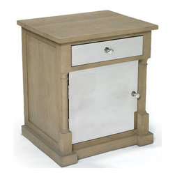 Go Home - Go Home Harmon End Table - The Tuscan Villa Harmon End Table is a great addition for your living Space. Crafted from quality wood with a warm brown and cream color finish, this furniture piece looks stylish. It is storage savvy table that features the decorative blocks for visual depth and dimension. It has two drawers that provide convenient storage space for all your knick knack items and accessories for keeping your room neat and clutter free. This table is a wonderful choice for outfitting your sofa sides or bedsides. Apart from storing your articles, you can place decorative art pieces over it for giving it an appealing look.