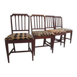 Vintage Dining Chairs in Kuba Cloth - Set of 4 - $1,900 Est. Retail - $1,635 on -