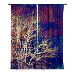 "DiaNoche Designs - Window Curtains Lined from DiaNoche Designs by Sylvia Cook - Strange Days - DiaNoche Designs works with artists from around the world to print their stunning works to many unique home decor items.  Purchasing window curtains just got easier and better! Create a designer look to any of your living spaces with our decorative and unique ""Lined Window Curtains."" Perfect for the living room, dining room or bedroom, these artistic curtains are an easy and inexpensive way to add color and style when decorating your home.  This is a woven poly material that filters outside light and creates a privacy barrier.  Each package includes two easy-to-hang, 3 inch diameter pole-pocket curtain panels.  The width listed is the total measurement of the two panels.  Curtain rod sold separately. Easy care, machine wash cold, tumble dry low, iron low if needed.  Printed in the USA."