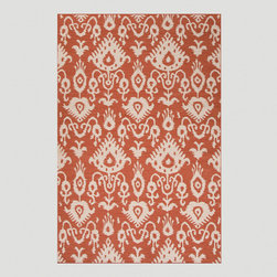 World Market - Orange Jatana Flat-Woven Rug - With its flat-woven construction and chic tribal design, our Orange Jatana Flat-Woven Rug adds style to any space. Handcrafted of 100% wool and available in a range of sizes, it's as durable as it is versatile.