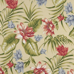 Green Pink Blue And Yellow Floral Outdoor Marine Upholstery Fabric By The Yard - This upholstery grade fabric can be used for all indoor and outdoor applications. It is Scotchgarded, and is mildew, fade, water, and bacteria resistant. This fabric is made in America!
