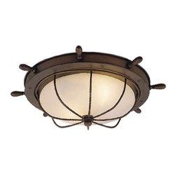 Vaxcel Lighting - Vaxcel Lighting OF25515 Orleans 2 Light Flush Mount Outdoor Ceiling Fixture - Features: